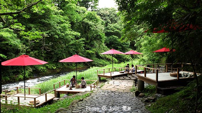 鶴仙渓 川床